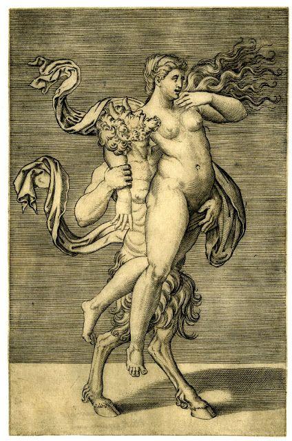Иллюстрации нимф и сатиров занимающихся сексом