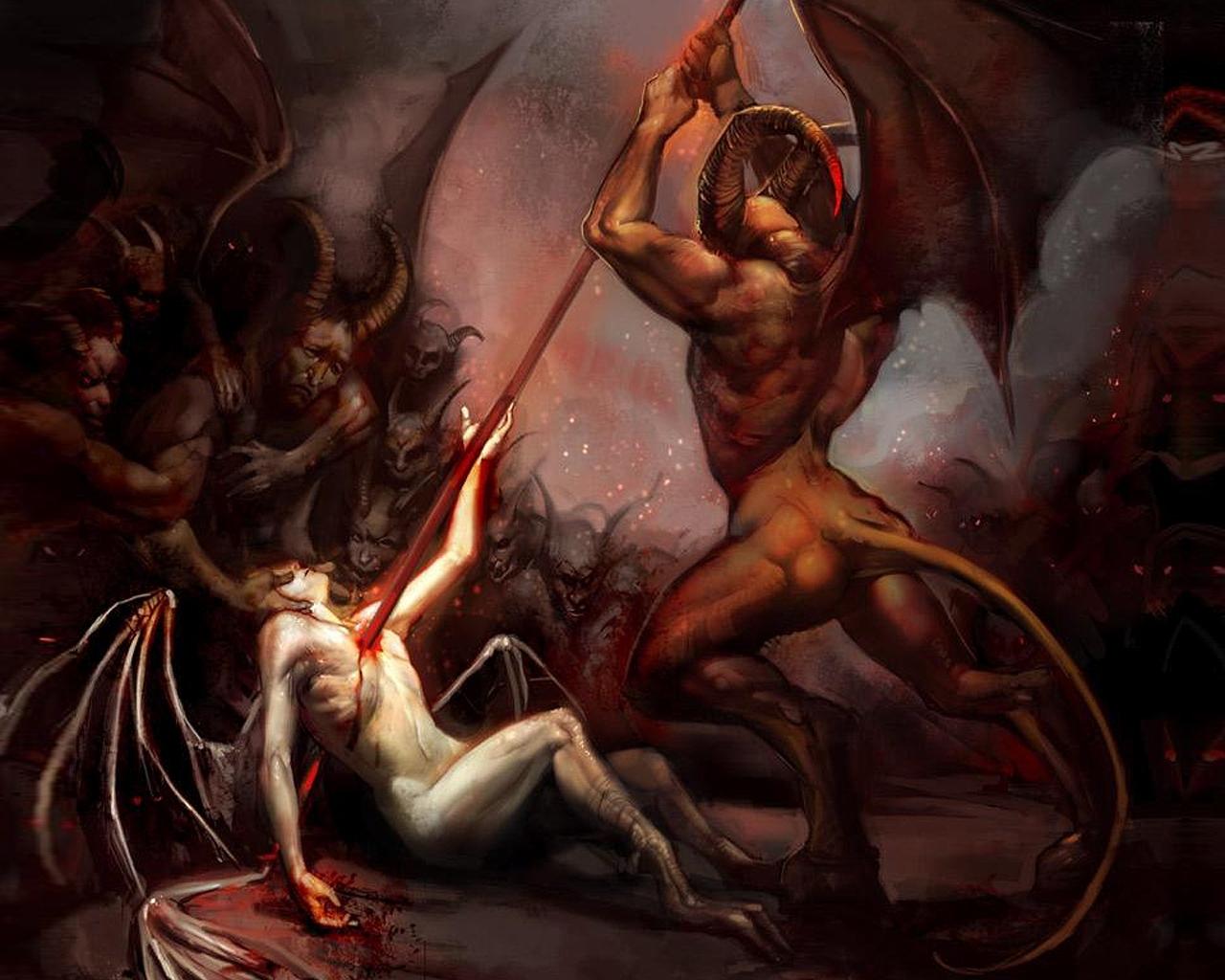 Секс демонессы с ангелом